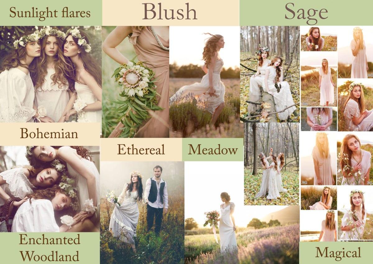 Blush and Sage