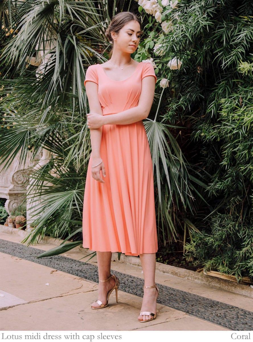 5456e9cbef Lotus designer dress with custom sleeve options - Willow   Pearl