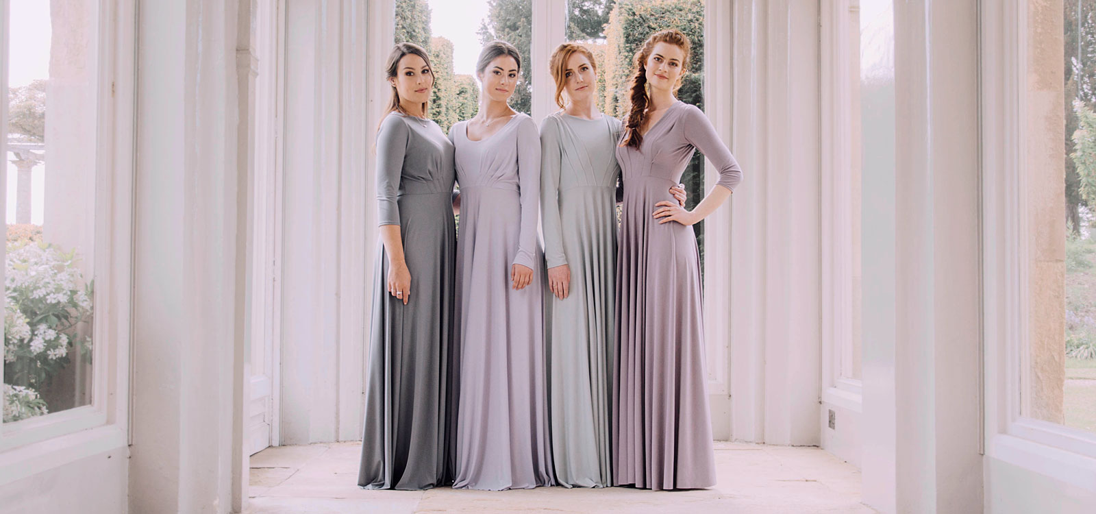 Long Sleeve Bridesmaids Dresses 1