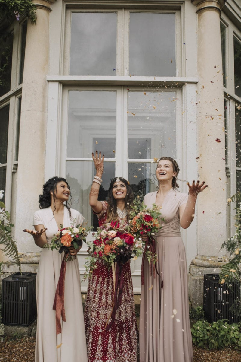 Biscuit & Cappuccino multiway bridesmaids dresses for this east meets west styled shoot