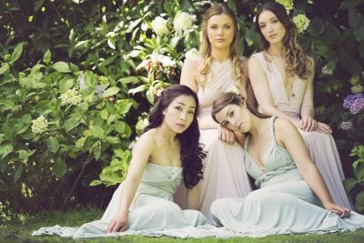 Blush and Sage multiway dresses perfect for bridesmaids. Full and midi lengths available.
