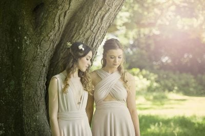 Blush multiway Willow dresses.