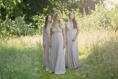 Double layered Willow multiway dresses in Blush pale pink colour.