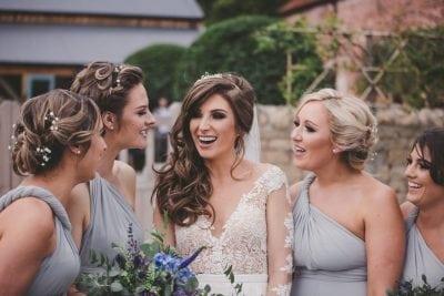 Dove Grey multiway dresses for Katie's four bridesmaids