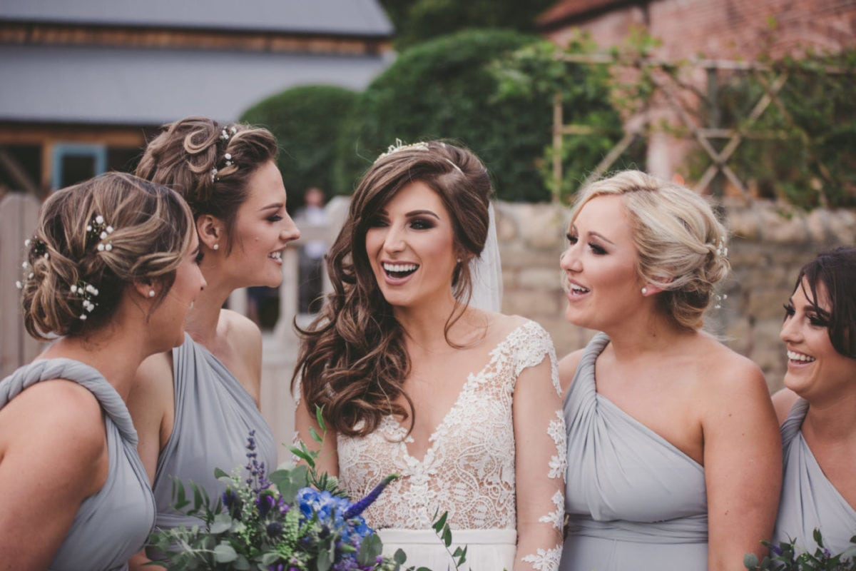 Dove Grey multiway dresses for Katie's four bridesmaids
