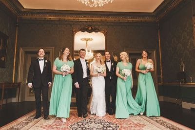 Emerald green bridesmaids dress for a Dublin Wedding