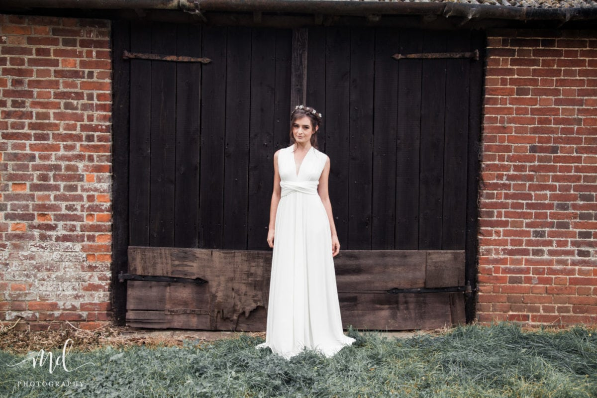 Ivory multiway dress - perfect for boho brides and brides on a tight budget