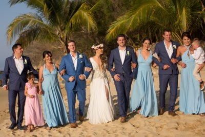Powder Blue mulitway dresses for Emily's dream destiination wedding in Mexico