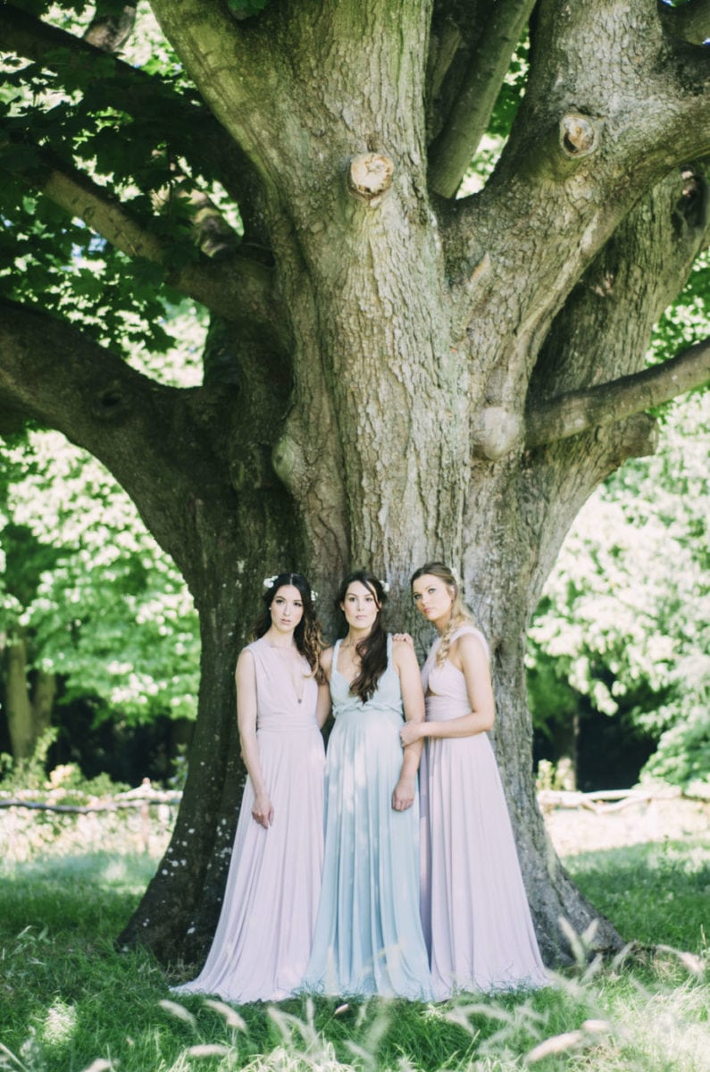 Sage green and Blush pink multiway dresses - perfect for bridesmaids.