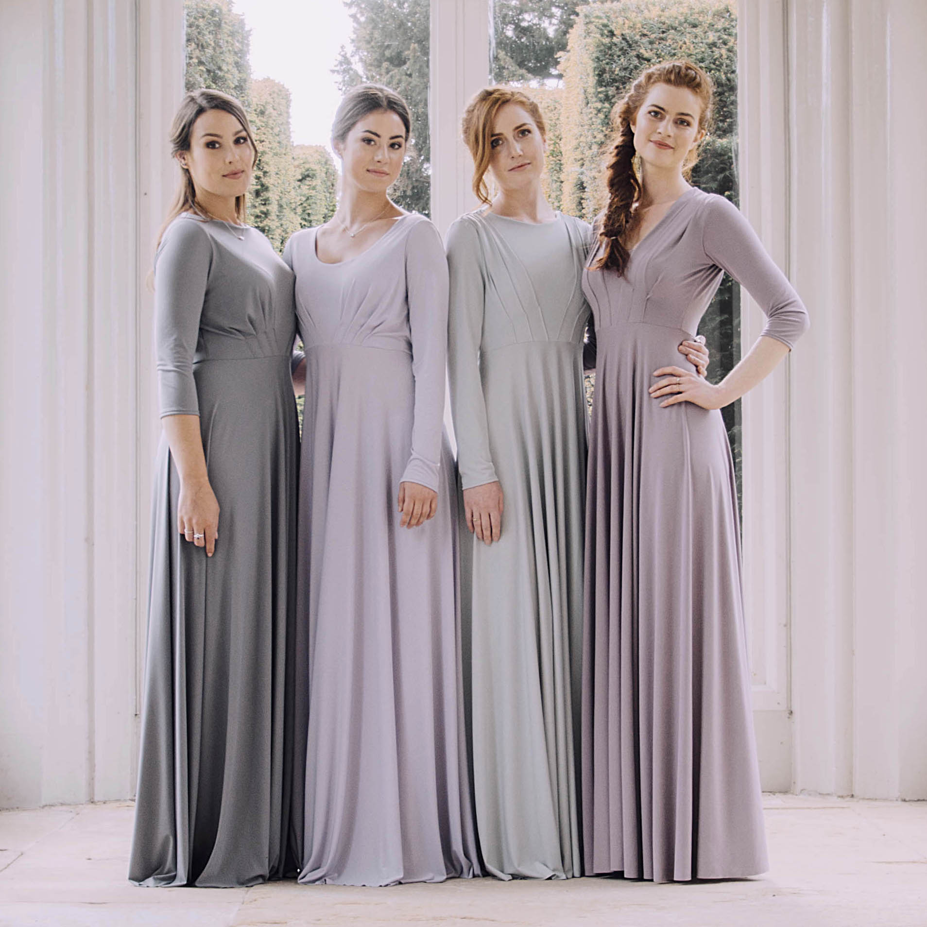 Long Sleeve Bridesmaids Dresses 3